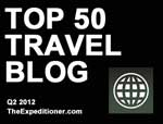 Holeinthedonut.com named one of the top 50 travel bloggers