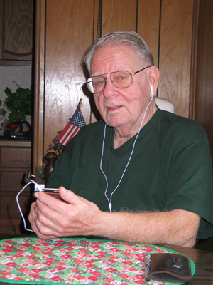 Dad with his new iPod