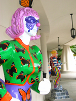 Butterfly clown sculpture in Sarasota Florida