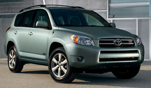 Toyota RAV4 in sage green