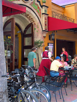 One of the many sidewalk cafes on Main Street, downtown Sarasota