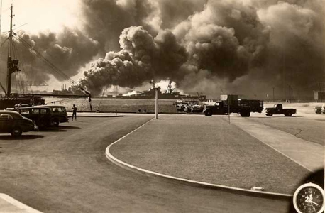 Recently discovered B&W photos of the attack on Pearl Harbor