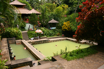 From the hillside, looking down upon Banjar Hot Springs