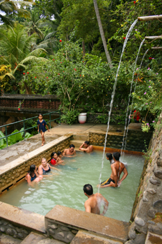 Banjar Hot Springs in central Bali