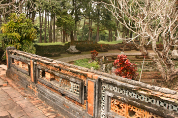 Exquisite gardens at the Tu Duc Tombs