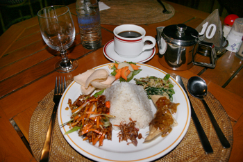 Traditional vegetarian dish in Bali