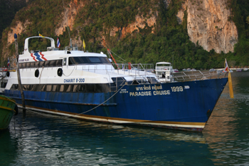 Old ferry carries passengers to Phi Phi Don