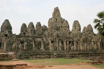 Bayon temple at the Angkor Wat complex