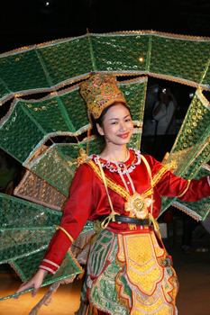 The Peacock dance performed in Chiang Mai Thailand