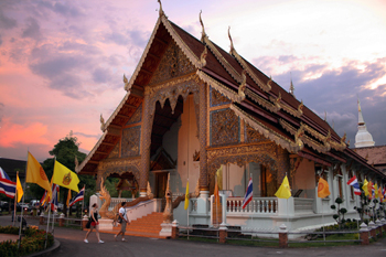 Wat Phra Singh in Chiang Mai Thailand is the pagoda representing the year of the dragon