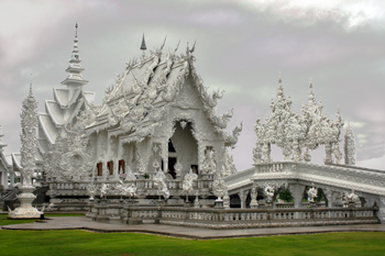 Wat Rong Kuhn in Chiang Rai, called the White Temple