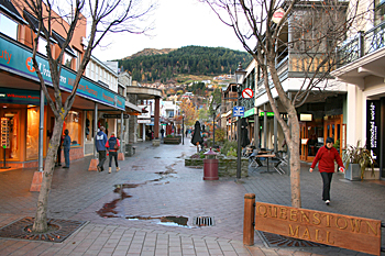 Pedestrian mall Queenstown New Zealand