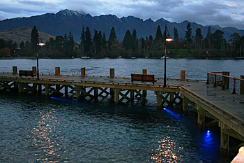 Wharf in Queenstown New Zealand