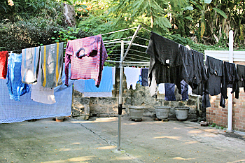 Hills hoist is still used all over Australia for drying laundry