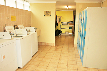 Laundry room at Cairns City Backpackers Australia