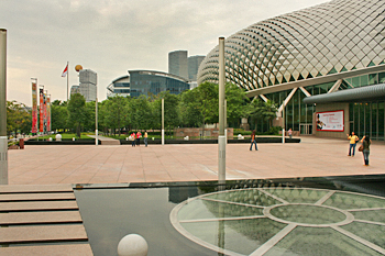 Esplanade Theatres On The Bay in Singapore is the center for musical performances and plays live theater performances