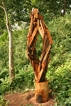 Outdoor sculpture in Fort Canning Park