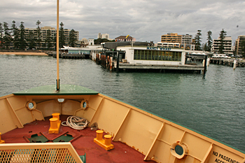 Pulling into the ferry dock at Manly Australia