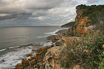 View from the highest cliff in the Cabbage Tree Bay Aquatic Reserve in Manly Australia