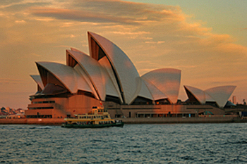 Sydney Opera House at sunset Australia