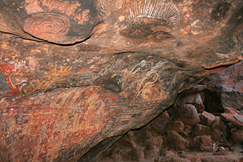 Ancient cave art at Ayers Rick (Uluru) Australia