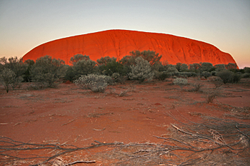 Ayers Rock (Uluru) at sunrise Australia