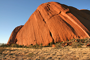 Striated sandstone at Ayers Rock (Uluru) Australia