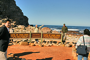 Standing at the Cape Of Good Hope, the southernmost point on the East African continent