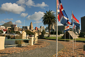 Cape Town's Central Business District from the Castle Of Good Hope South Africa