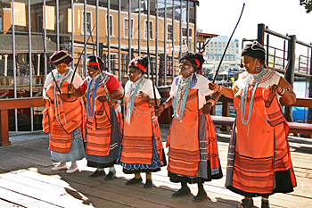 Performers at the Waterfront in Cape Town South Africa