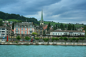 Town of Wadenswil on Lake Zurich Swwitzerland