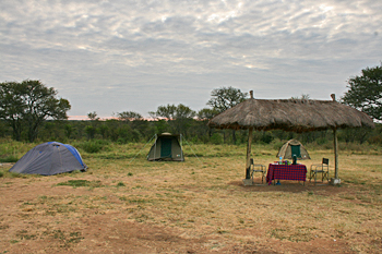 Serengeti campground Tanzania