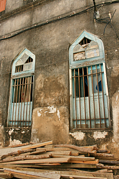 Arabic influenced architectural details in Stone Town Zanzibar