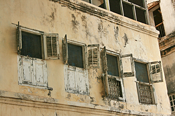 Interesting windows in Stone Town Zanzibar