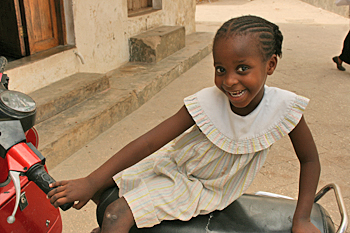 Young girl in Zanzibar is model material