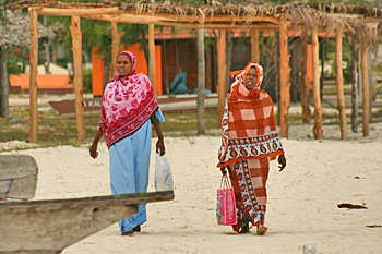Massage therapists on Nungwi beach Zanzibar