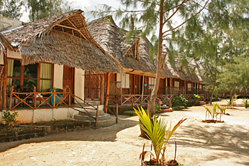 Sunset Bungalows on the northern tip of the island of Zanzibar