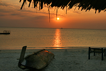 Sun sinks lower on the island of Zanzibar