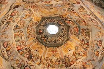 Inside Santa Maria Del Fiore Cathedral in Florence Italy