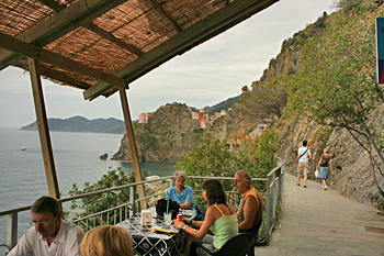 Rest a while if the trail tires you out between the villages of Cinque Terre Italy