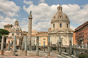 The Imperial Forum is one of the most historic sites in the Eternal City of Rome