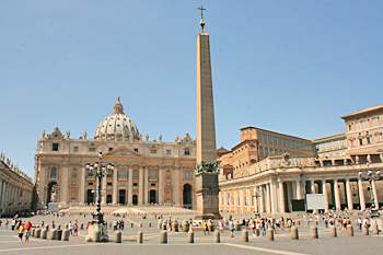 St. Peter's Basiilica and Square in Vatican City Rome Italy