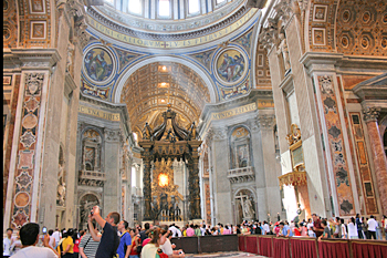 Inside St. Peter's Basiilica Vatican City Italy