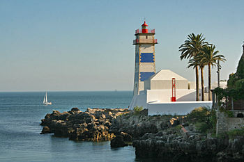 Santa Maria lighthouse in Cascais Portugal