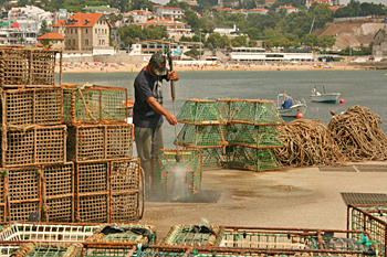 Cascais Portugal is still an active commercial fishing town