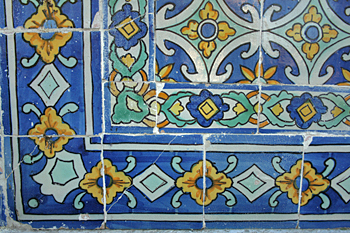 Azulejo tiles in Cascais Portugal