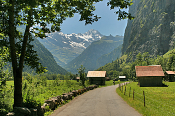 Hiking to Trummelbach Waterfall Switzerland