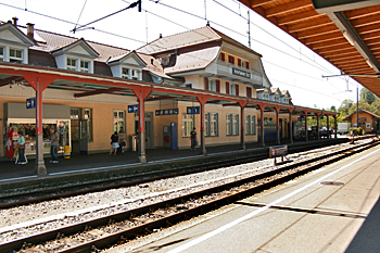Ost railroad station in Interlaken  Switzeerland