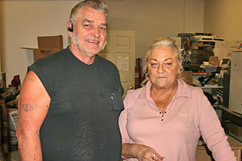 Bob and Kitty Landrum, owners of Point Where The Rivers Meet Coffee Shop, Point Pleasant, West Virginia