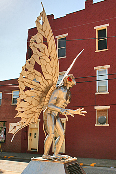 Mothman statue, Point Pleasant, West Virginia